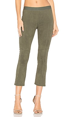 Suede Legging in Olive