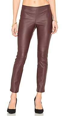 Moto Legging in Oxblood