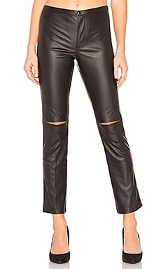 Skinny Split Knee Faux Leather Pant David Lerner $74