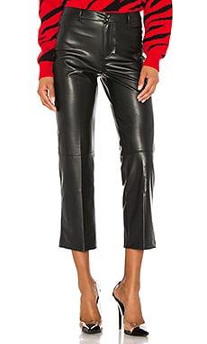 Vegan Leather High Rise Straight Leg Pant David Lerner $264