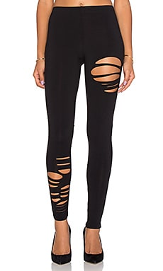 Ripped Legging in Black