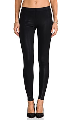 Coated Classic Legging en Negro