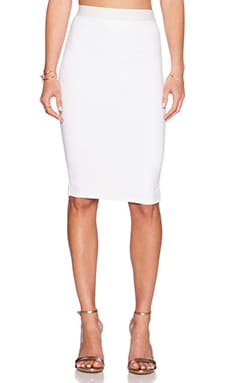 David Lerner Midi Skirt in Soft White