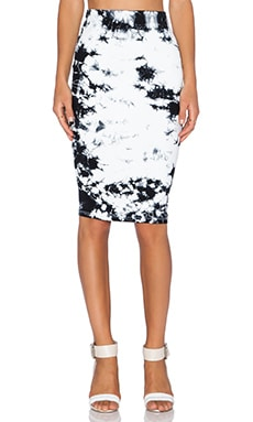 David Lerner Tube Midi Skirt in Modern Tie Dye