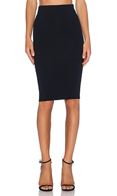 David Lerner Mesh Midi Skirt in Classic Black