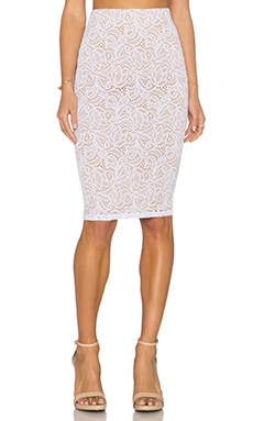 David Lerner x Chiqui Delgado Lace Midi Skirt in White