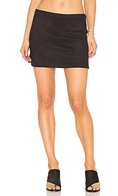 High Low Rounded Hem Skirt en Classic Black
