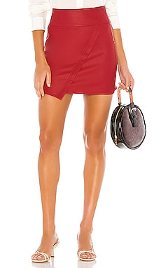 X REVOLVE Vegan Leather Wrap Skirt David Lerner $110 NEW ARRIVAL