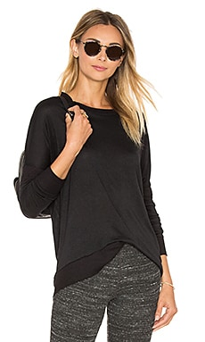 David Lerner Ribbed Elbows Pullover in Classic Black