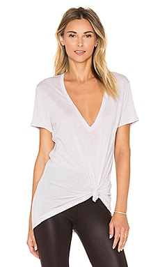 David Lerner Super Deep V Tee in Oyster