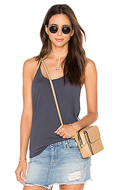 David Lerner Hi Low Drapey Tank in Stone