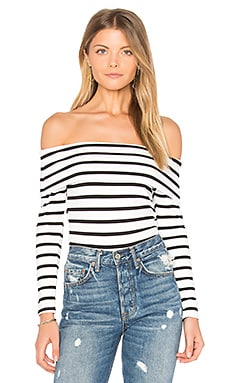 Surrey Crop Top in Black & White Stripe