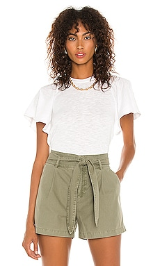 Candice Flutter Sleeve Tee David Lerner $62 NEW