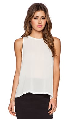 David Lerner High Low Tank in White
