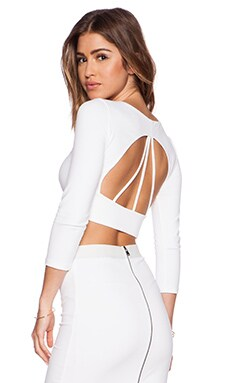 David Lerner Emerson Crop Top in Soft White