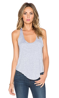 David Lerner Merrow Edge Tank in Light Heather Grey