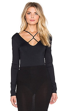 David Lerner Strappy Bodysuit in Classic Black