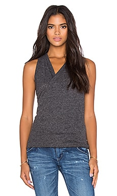 David Lerner Twisted Jersey Tunic in Charcoal Grey