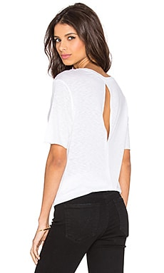David Lerner Back Slit Boxy Tee in White