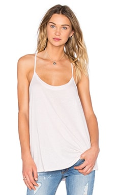 Hi Low Drapey Tank in Blush