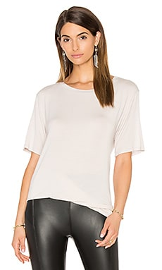 David Lerner Knotted Tee in Oyster