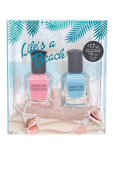 2 Piece Sand Globe Nail Lacquer Set in Life's A Beach