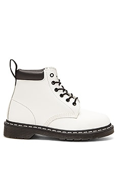 Dr. Martens 939 Padded Collar 6 Eye Boot in White