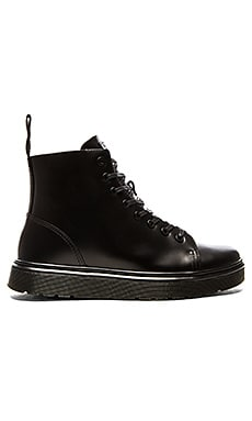 Talib 8 Eye Boot in Black