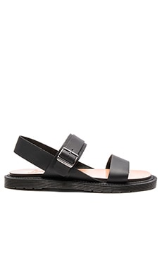 Dr. Martens Kennet 3 Strap Sandal in Black