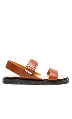 Dr. Martens Kennet 3 Strap Sandal in Oak