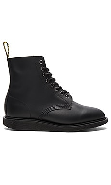 Whiton 8 Eye Boot in Black