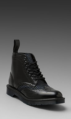 Orfano avere fiducia pulire  Dr. Martens Made In England Anthony Brogue Boot in Black & Navy | REVOLVE