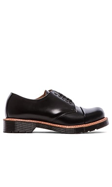 Dr. Martens Leigh 5-Eye Toe Cap Shoe in Black