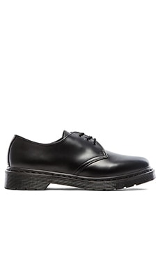 Dr. Martens 1461 3 Eye Gibson in Black Mono