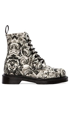 Dr. Martens Beckett 8-Eye Boot in Black & Grey