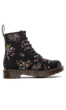 Dr. Martens Castel 8-Eye Boot in Black Belladonna