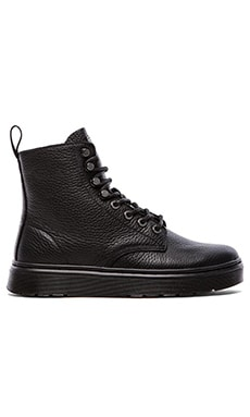 Dr. Martens Disc 8-Tie Boot in Black