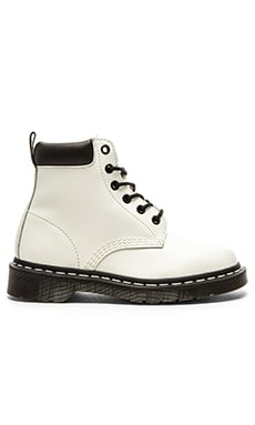 939 6-Eye Padded Collar Boot in White