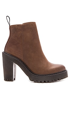 Dr. Martens Magdalena Ankle Zip Boot in Dark Brown