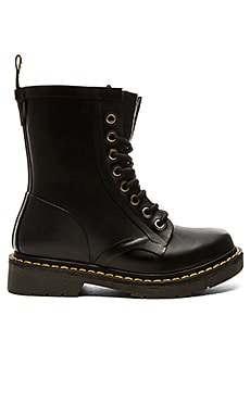 Dr. Martens Drench 8 Eye Boot in Matt Black