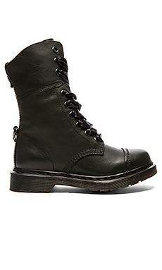 Dr. Martens Aimilita 9-Eye Toe Cap Boot in Black