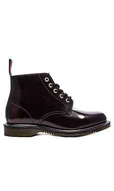 Emmeline 5-Eye Boot in Cherry Red