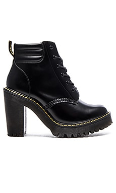 Dr. Martens Persephone 6-Eye Padded Collar Boot in Black
