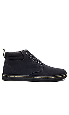 Dr. Martens Belmont Padded Collar 5-Eye Boot in Black