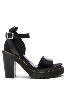 Medea Minimal Sandal in Black