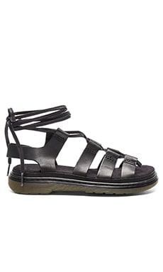 Kristina Ghillie Sandal in Black