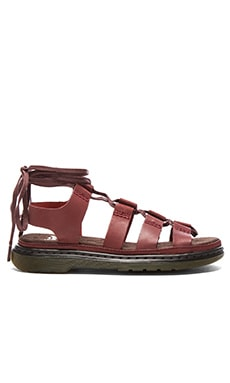 Dr. Martens Kristina Ghillie Sandal in Deep Red
