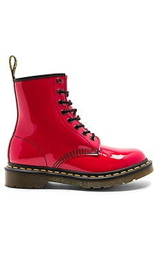 1460 3 Eye Boots in Red