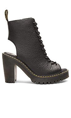 Carmelita Open Heel Lace Up Boot in Black