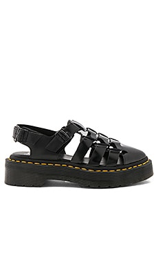 Oriana Pointed Fisherman Sandal in Black